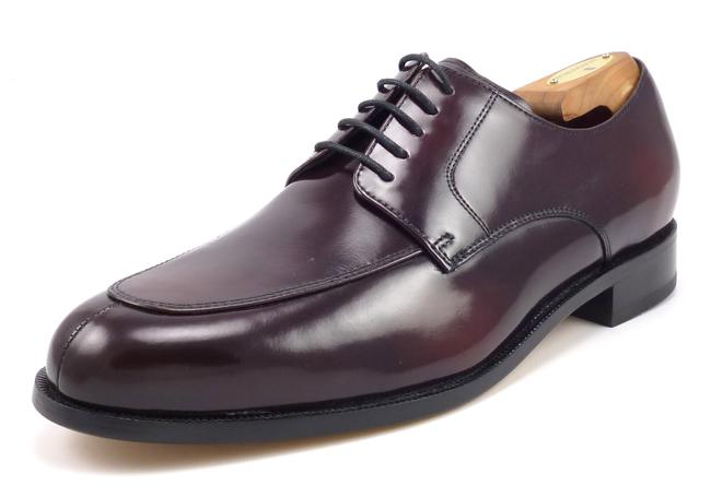 Item - Burgundy Men's Leather Lace Up Oxfords Shoes