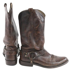 Frye Brown Rugged Leather Western Boots
