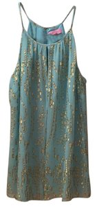 Lilly Pulitzer Top Turquoise and Gold