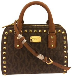 Michael Kors Small Mk Satchel in Brown