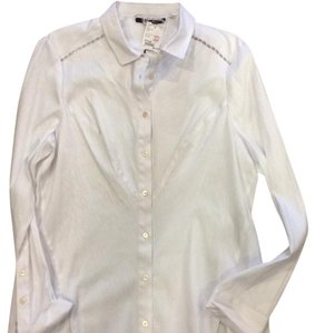Rachel Roy Button Down Shirt White
