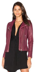 IRO Alexander Wang Veda Burgundy Leather Jacket