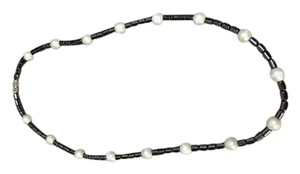 Other Charcoal & White Stone Necklace