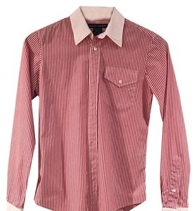 Ralph Lauren Button Down Shirt White, red, navy blue