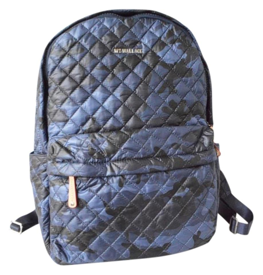 fa95aa9d77 MZ Wallace Metro Camouflage Quilted Sale Navy Nylon Backpack - Tradesy