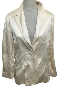 Burberry London Burberrys Silk Jacket Cream, Beige Blazer