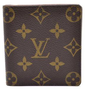 Louis Vuitton Monogram Porto Bie cult M60905 Bifold Brown Leather Men