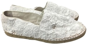 Chanel Espadrilles Flower White Flats