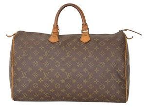 Louis Vuitton Lv Speedy 40 Satchel in Brown