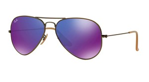 Ray-Ban RB 3025 167/68 GOLD with PURPLE FLASH MIRRORED LENS