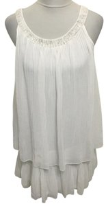 Chloé short dress White Silk Chiffon Romantic Vintage on Tradesy