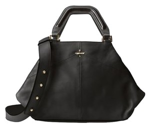 Pour La Victoire Noveau Noir Leather Satchel Shoulder Bag