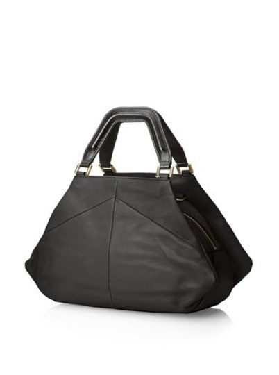 Pour La Victoire Noveau Noir Leather Satchel Shoulder Bag Image 1