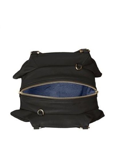 Pour La Victoire Noveau Noir Leather Satchel Shoulder Bag Image 2