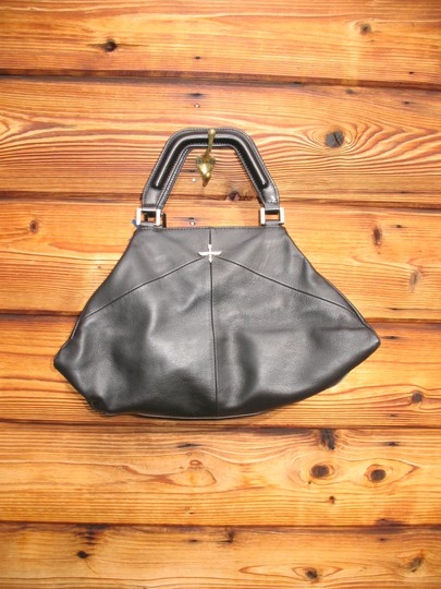 Pour La Victoire Noveau Noir Leather Satchel Shoulder Bag Image 3