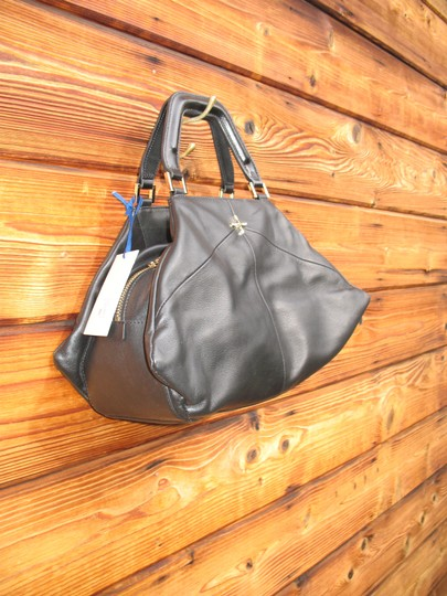 Pour La Victoire Noveau Noir Leather Satchel Shoulder Bag Image 4