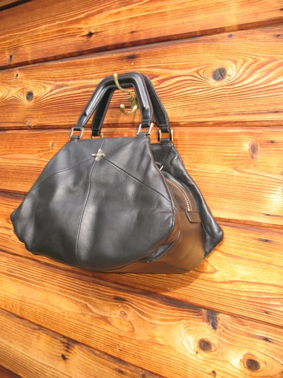 Pour La Victoire Noveau Noir Leather Satchel Shoulder Bag Image 5