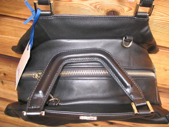 Pour La Victoire Noveau Noir Leather Satchel Shoulder Bag Image 9