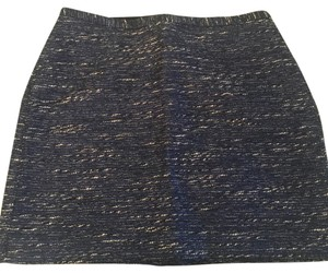 Madewell Mini Skirt Blue, silver, white, black