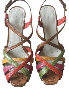 Nine West Light Brown/multi/leather Platforms