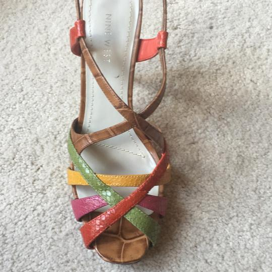 Nine West Light Brown/multi/leather Platforms Image 10
