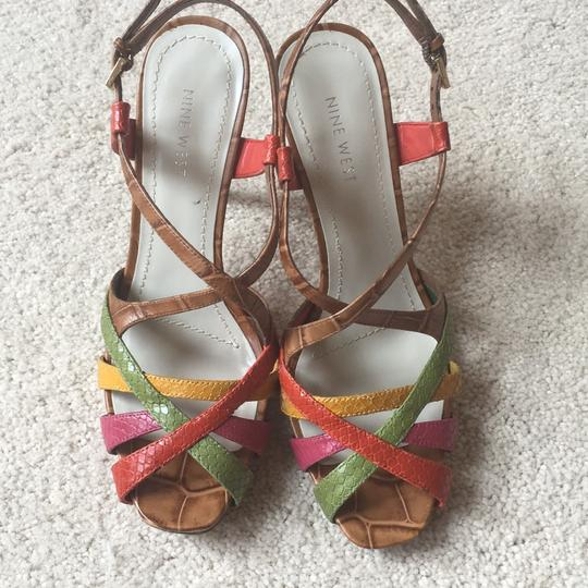 Nine West Light Brown/multi/leather Platforms Image 2