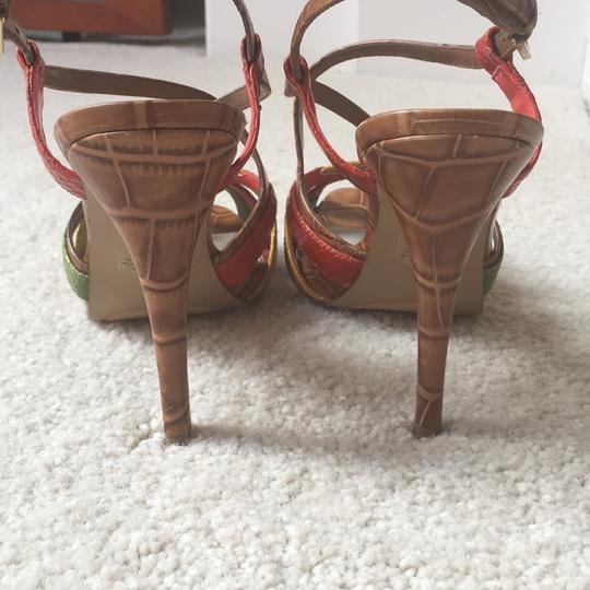 Nine West Light Brown/multi/leather Platforms Image 3