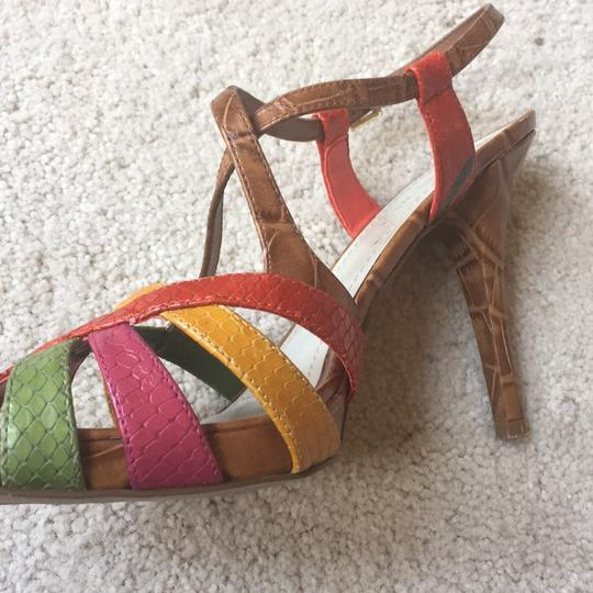 Nine West Light Brown/multi/leather Platforms Image 7