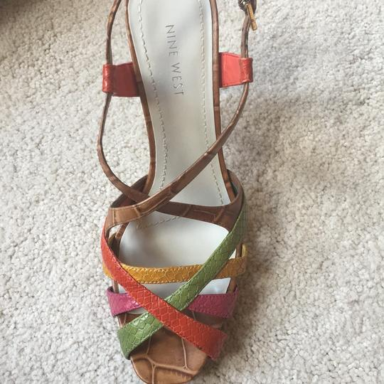 Nine West Light Brown/multi/leather Platforms Image 9