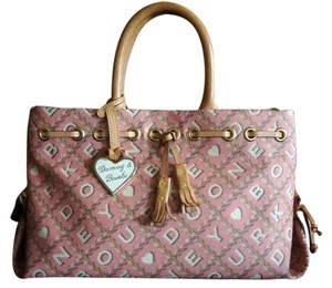 Dooney & Bourke Monogram Satchel in pink