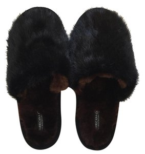 Genuine Mink Never Worn Black Flats