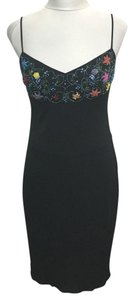 David Meister Floral Beaded Dress
