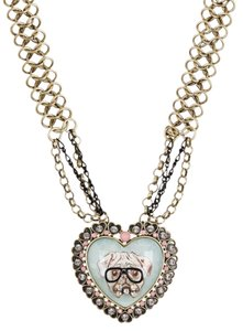 Betsey Johnson Betsey Johnson Bulldog Heart Cameo Pendant Necklace