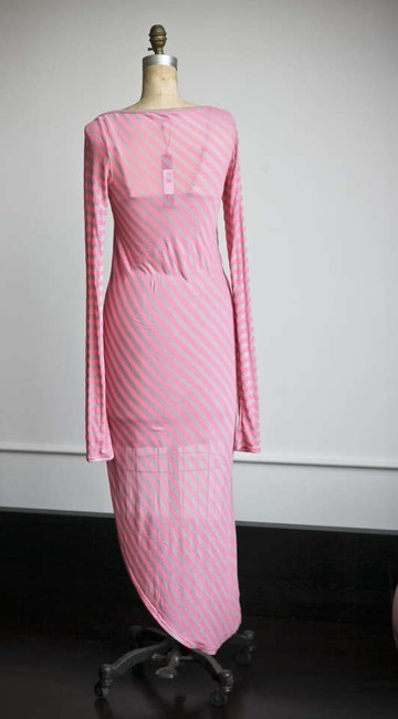 Elizabeth and James short dress Gray and Pink striped Jersey Hi-lo Hem High-low Hem Asymmetrical on Tradesy