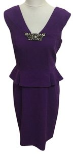 David Meister Peplum Beaded Dress