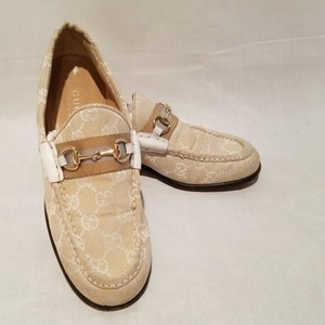 Gucci Horsebit Loafers Winter White/Off White Flats