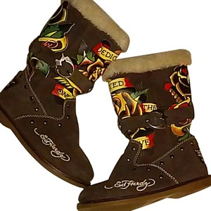 Ed Hardy BROWN Boots