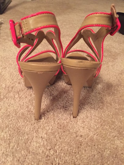 Aldo Shoes Beige With Hot Pink Sandals