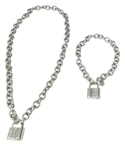 Tiffany & Co. Tiffany & Co Lock Padlock Charm Necklace & Bracelet (Opens & Closes)