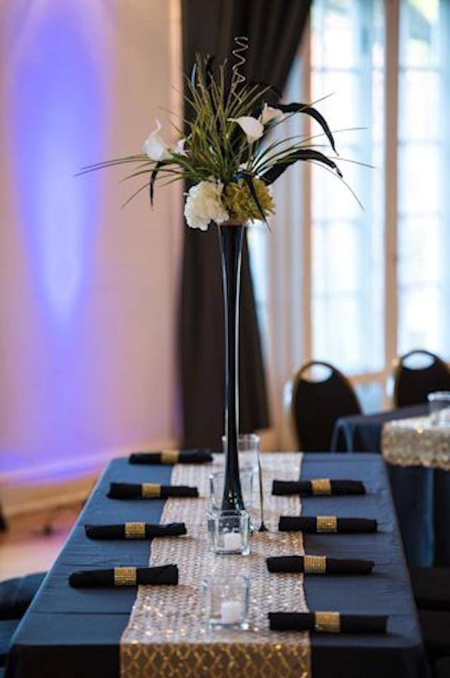 Black Glass 28 Inches Eiffel Tower Vases Centerpiece Tradesy