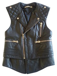 Balenciaga Leather Leather Biker Vest