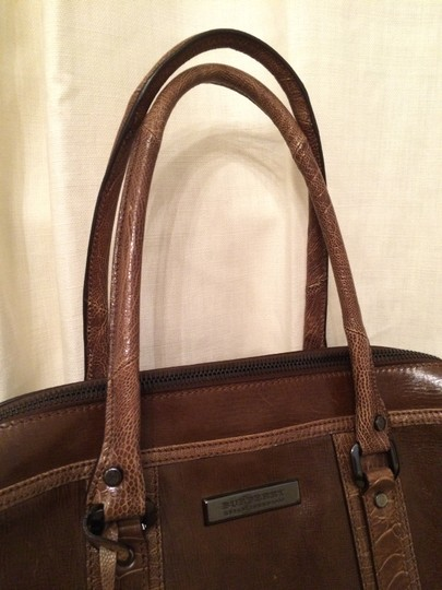 Burberry Exotic Leather Tan Brown Tote in Whiskey