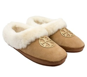Tory Burch Coley Slippers 34405 Royal Tan/Gold Flats