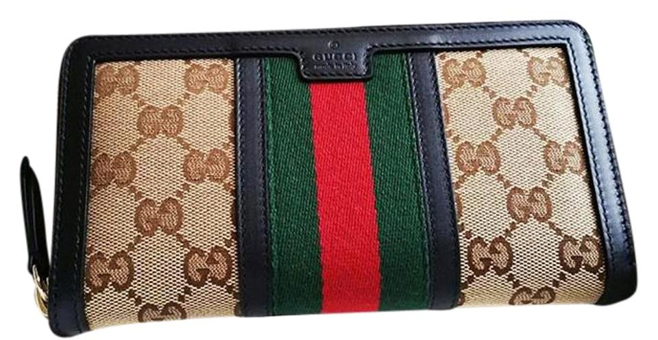 7574a453ce3377 Gucci Brown Classic Continental Canvass Wallet - Tradesy
