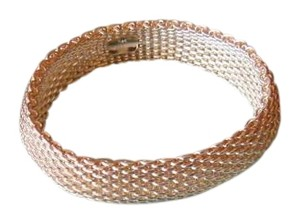 Tiffany & Co. Sterling Silver 925 Somerset Mesh Bracelet