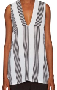 Lucca Couture Top White and black stripes