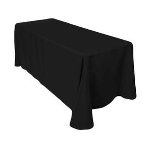 Lot Of (10) 90 X 132 In. Rectangular Tablecloths - Black