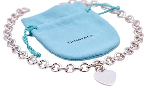 Tiffany & Co. Tiffany &Co Heart Tag Choker Necklace in Sterling Silver 925