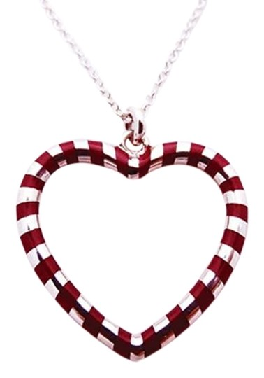Preload https://img-static.tradesy.com/item/20189709/tiffany-and-co-silver-redpurple-enamel-heart-sterling-necklace-0-1-540-540.jpg