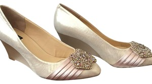 Alex Marie Champagne Gold Wedges